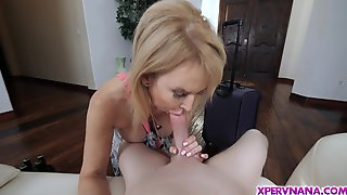 Blazing Milf Knows The Best Tricks To Keep This Teen Man In Line