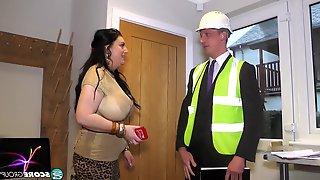 Desk And Pierced Porn Sabrina-Jade - Big Tit Inspector, Long Hair