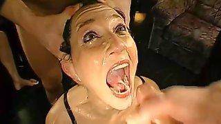 Slut Shows Extreme Bukkakes And Fellatio