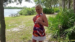 Showing Off Undressed In Public Gets Her A Creampie