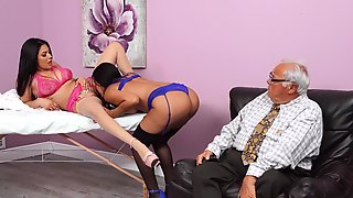 Lesbian Couple In Action In HD - Serena Santos And Alina Belle
