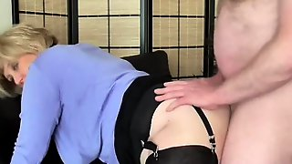 Naughty Large Tit Step Mamma Shares Her Secret Ribald Phone Vids Taking Schlong In Throat And Cunt.