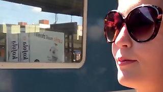 Adorable Brunette Having Sex On The Train