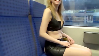 Youthfull Doll In Public Gets Humped In Public Transport!