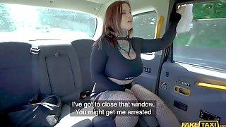 Chubby Slut In Fishnet Stockings Fucks For A Free Ride