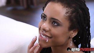 Ebony Eighteen Years Old Kira Noir Getting Drilled Deep By BWC