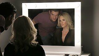 Horny Husband Fucks His Beautiful Wife On The Bed - Blake Morgan