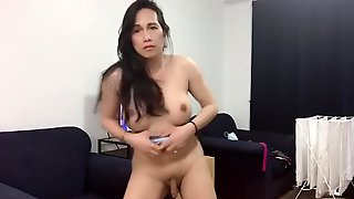 Solo Asian Trans Anairb Doing Strippers Sexy Dance Naked 2
