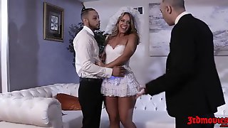 Slutty Blonde Bride, Candice Dare Needs A Good Fuck Right Before The Wedding, Because She Is Horny