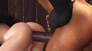 Gonzo In The Dungeon Space! A Magnificent Kinky She-male Woman Has Stiff Assfucking Bang-out