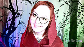 Crimson Riding Hood Sucks Dick Of A Big Bad Wolf - Fat Oral Creampie
