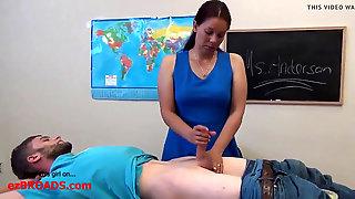Lecturer Gives Hefty Dick Schoolgirl Handjob(EXPOSED)