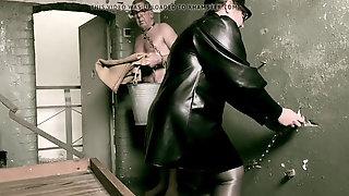 Dominatrix Domina April - Flogging Her Slave's Ass