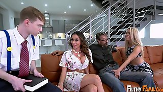 Ariella Ferrera And Lily Ford Crazy Group Sex Video