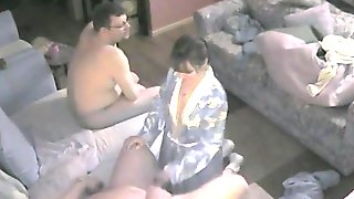 Threesome In Your Living Room Recorded With My Hidden Camera.