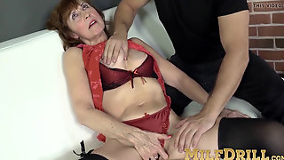 Mature Female In Tights Amy D Riding Big Dick After Fellatio