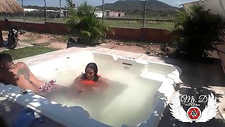 Outdoor Sex In The Farms Jacuzzi