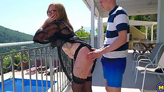 Modern Mature Woman Gets Young Cock In All Holes