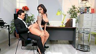 Premium Secretary Drives Boss Crazy With Insane Sex
