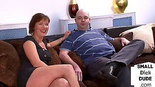 CFNM Brit Dominas Stroking Tiny Dick Subject