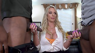 Cougar Rammed By Two Men With Insane BBCs