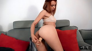 Horny Redhead Solo Girl Mimi Boom Pleasures Her Pussy With A Dildo
