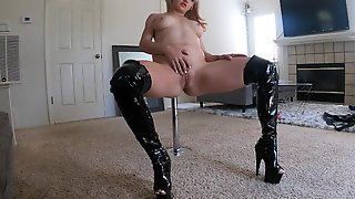 Stripper MILF Entices Step Son To Cum Inside From Working In The Yard