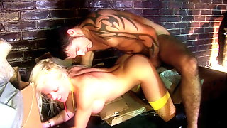 A Group Of Horny Guys Bang Some Hot Whores Outside A Club