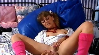 Horny Masturbating Girl Needs A Cock To Show Up And Pound Her