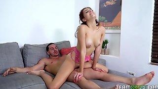 Lustful Stepsister Brooke Haze Seduces Her Handsome Stepbrother Peter Green
