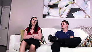 Fixing The Office Supersluts Attitude With A Humungous Man-meat To Her Pussy - Amiee Cambridge