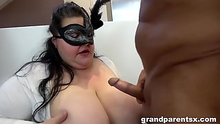 Old BBW And Her Husband Give Sex Lessons - Sarah Kay