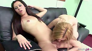 Ts Shemale Fuck Hot Girl And Cum On Her Tits