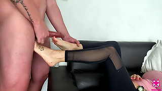 I Pounded Her Feet And Decorated Them In Cum - FoxxxLife - Footjob, Cumshot