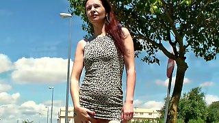 Mini Dress - Public Upskirt With