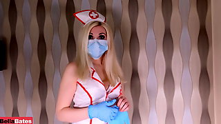 POV – REALLY THE RIGHT WAY TO TEST FOR COVID-19 – NURSE BLOWJOB