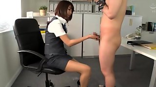 Harusaki Ryou Riding A Dick In The Office While Wearing High Heels