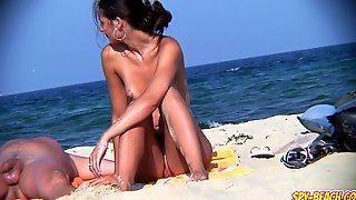 Voyeur Nudist Amateur Couple - Back Pussy Close Up