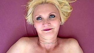 Solo Masturbation From Mature Blonde