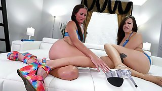 Sofie Marie And Shelby Paris Fuck A Double Ended Dong Together