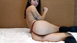 Crazy Step Sis Shoves Panties In Her Muff