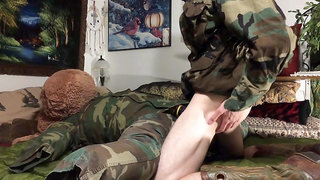 Military Hunk Screwing Fleshlight Rough & Cums - Boots Hung Anon Bareback