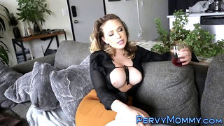 Brunette milf with big tits drilled