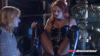 Sexy vampire Karina Kay hooks up with brutal dude who bangs her cunt without mercy