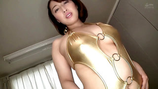 Japanese cougar gold bodycon