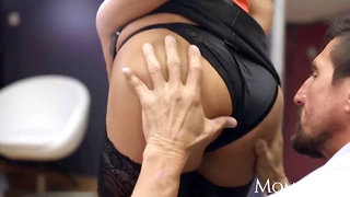 Mom big boobs hot milf anna polina in sexy stockings with big ass