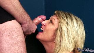 lustful GILF crazy cumshot porn video