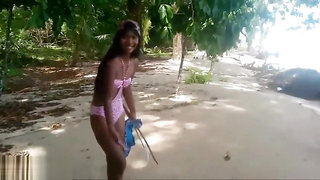 HD thai girl gets caught giving deepthroat throatpie by tourists