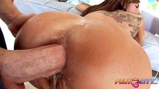 Anal mom with sexy tats Alyiah Stone ass fucking