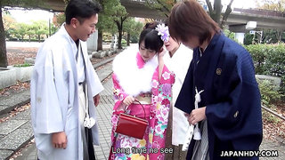 Hot and voracious Japanese nympho Tsuna Kimura is fucked on the tatami